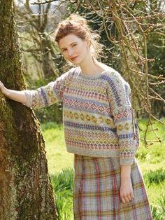 Fleur Knitting Crochet pattern by Marie Wallin Punto Fair Isle, Motif Fair Isle, Fair Isle Pattern, Rowan Knitting, Hand Knitting, Norwegian Knitting, Knitting Sweaters, Rowan Felted Tweed, Fair Isle Knitting Patterns