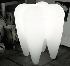 Giant tooth lamp/stool! <3