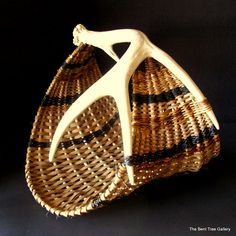 Hey, I found this really awesome Etsy listing at https://www.etsy.com/listing/188269514/antler-basket-provender-style-with-real