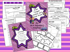 This is my new Mark Teague author unit that covers How I Spent My Summer Vacation, The Secret Shortcut, Dear Mrs. LaRue, and LaRue Across America. It also has a Mark Teague biography with graphic organizer and theme, setting, character, and plot comparisons.  http://www.teacherspayteachers.com/Store/Mrs-Hansens-Helpfuls