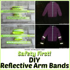 DIY reflective Arm Bands
