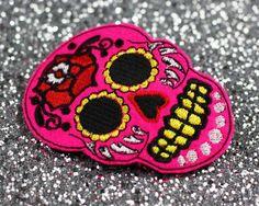 Sugar Skull Hair Clip, Hot pink £12.00