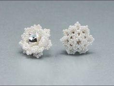 Snowflakes Earrings - How to bezel 10mm rivoli - Beading Tutorial by Sidonia - YouTube