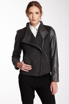 Printed Sleeve Flap Coat//