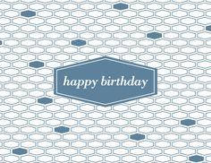 Hexagon Birthday by Kelp Designs on Postable.com