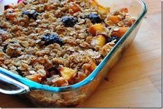 Peach Blackberry Crisp is sweet and Heavenly. A treat to enjoy all summer long! | iowagirleats.com