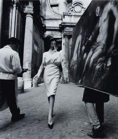 William Klein,  Rome, 'Vogue', Painting + Coffee, 1960