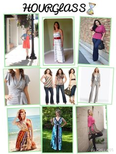 What to wear for the hourglass body type, hourglass shape, silhouette