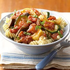 The soft sauteed veggies and fun spiral noodles make our Ratatouille with Pasta Spirals a great meal for the baby to enjoy alongside the family!   http://www.parents.com/baby/feeding/solid-foods/making-babys-food-from-the-family-meal/?socsrc=pmmpin130507mpkfmRatatouillePasta