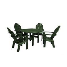 Little Cottage Company Classic 5 Piece Dining Set Finish: Turf Green