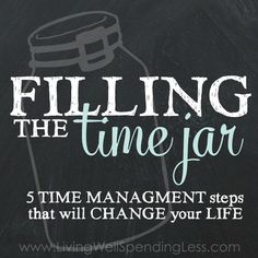 5 Time Management steps that will change your life! If you've ever struggled with time management or getting things done, check out these great tips plus a free printable workbook that walks you through all five steps. Coaching, Success, Time Management Tips, Change Management, Business Management, Read Later, Life Organization, Calendar Organization, How To Plan