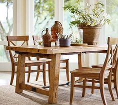 Benchwright Extending Table & Aaron Chair 7-Piece Dining Set #potterybarn