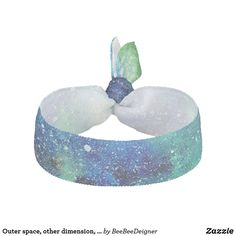 Shop Outer space, other dimension, same stars. elastic hair tie created by BeeBeeDeigner. Lost Stars, Watercolor Galaxy, Elastic Hair Ties, Green Pattern, Outer Space, Blue Hair, Bridesmaid Gifts, Galaxies, Blue Green