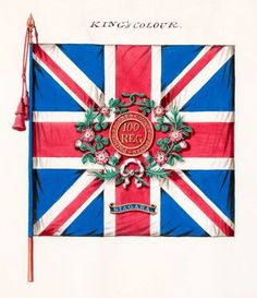 Prince Regent's County of Dublin 100th Regiment of Foot: King's Colour from official records of College of Arms