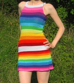 This is a party dress. Right, Squires Labor ? Ravelry, Rainbow Food, Rainbows, Mini, Knit Crochet, Projects To Try, Party Dress, Colorful, Foods