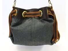 Chambray Casual Hobo Handbag