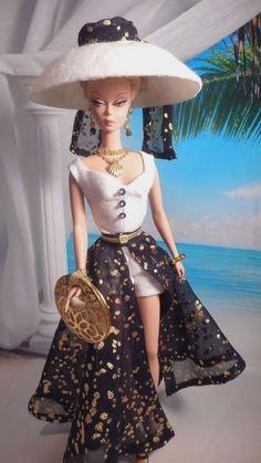 Vintage Repro Barbie Silkstone FR Poppy Parker Fashion Handmade Dress OOAK /Mary #Unbranded