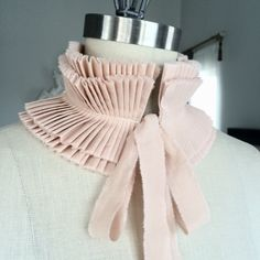 NEW Hand dyed hand pleated detachable collar/More by marinaasta