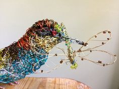 Bee eater wire Bird Sculpture by Paul Green