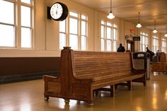 Check out the beautiful renovation of the Lancaster train station waiting area.