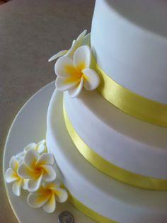 Wedding Cakes Pictures Yellow Frangipani
