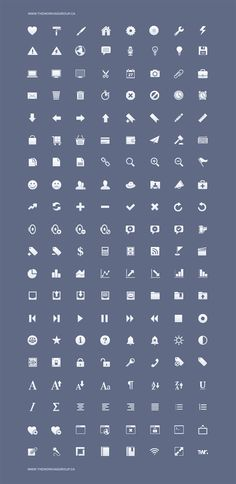 iPhone toolbar icons set