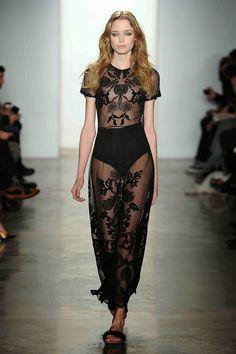 #Black #Lace #Sheer #MaxiDress #Runway #Model #Summer #Style #Fashion #BiographyInspiration