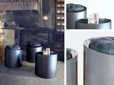 Hergestellt wird der Hocker/Tisch aus edlem Metall und kann je nach Wunsch in einer Farbe aus unserer Farbkarte produziert werden. Dieser runde Couchtisch in Kombination mit dem passenden Hocker stellt eine geschmackvolle Einheit dar.