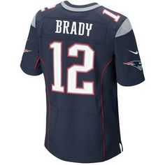 Official New England Patriots ProShop - Nike Elite Tom Brady #12 Jersey-Navy