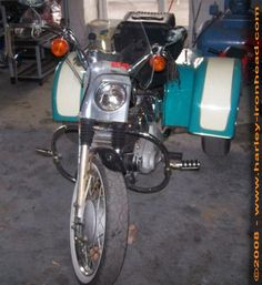 Photo of 1968 IronHead Sportster Touring Trike by Bruce and Dennis.