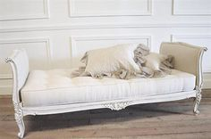 Antique French Daybed in Linen by FullBloomCottage on Etsy