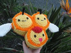 Combee Pokemon Doll by amiamour on Etsy, $35.00