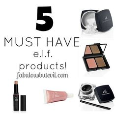 5 MUST HAVE e.l.f. products!