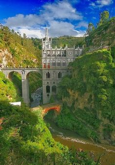 Las Lajas Sanctuary, Potosí, Narino, Colombia by ©haddock Places Around The World, Oh The Places You'll Go, Travel Around The World, Places To Travel, Places To Visit, Around The Worlds, Wonderful Places, Beautiful Places, Amazing Places