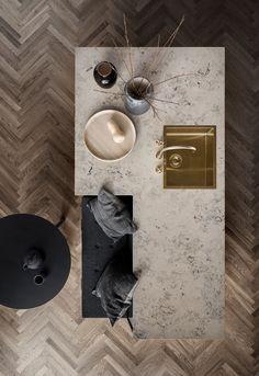 New Nordic Shaker Kitchen Unoform, elsker utforming på denne kjøkkenøya Dining Room Design, Interior Design Kitchen, Dining Room Modern, Dining Decor, Bathroom Interior, Küchen In U Form, Interior Styling, Interior Decorating, Küchen Design