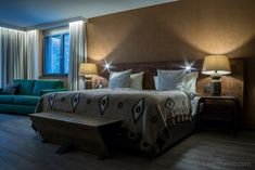 Valsana Hotel - a new bijou at the entrance to Arosa, Switzerland Hotel Apartment, Switzerland, Entrance, Hotels, Interior Design, Bed, Furniture, Home Decor, Arosa
