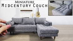 I recently bought a new couch and loved it so much I had to create a miniature scale version. Modern Dollhouse Furniture, Diy Barbie Furniture, Miniature Furniture, Barbie Furniture Tutorial, Tiny Furniture, Furniture Movers, Ikea Raskog, Diy Couch, Sofa Couch