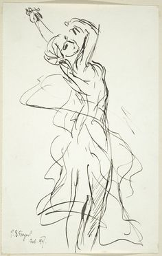 ::: The Dance :::  John Singer Sargent American (Florence, Italy 1856 - 1925 London, England)  After Jean Baptiste Carpeaux French (Valenciennes, France 1827 - 1875 Courbevoie France) {The Dance, after Carpeaux (?), Feb 1907}