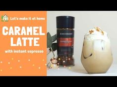instant espresso - Iced Caramel Latte Recipe with Davidoff Espresso Recipes, Coffee Recipes, Iced Caramel Latte Recipe, Mini Cafe, Espresso Latte, Cafe Style, Easy Meals, Homemade, Make It Yourself