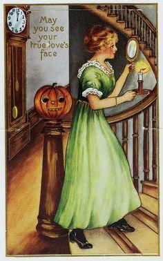 Vintage Halloween Postcard October Country, Vintage Halloween, Painting, Art, Art Background, Painting Art, Kunst, Paintings, Performing Arts