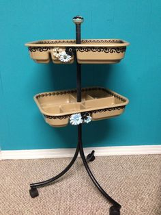 Vintage Salon Cart refinished to Shabby Chic!