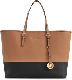 a5798b437ca3 Michael Kors Two Tone MD Jet Set Travel Tote on shopstyle.co.uk Travel