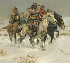 Charles M Russell Western Art Native American The Snow Trail | eBay