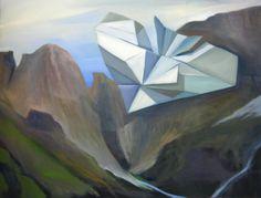 """""""Góry"""", olej na płótnie,60×73 cm"""