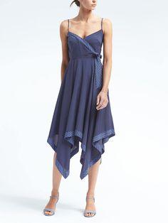 Print Strappy Handkerchief-Hem Dress | Banana Republic