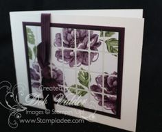 www.stampladee.com  I used Avery Labels!  how cool checkit out on my blog post.  #averylabels #tilecard #stippledblossoms #stampinup #stampladee #debvalder