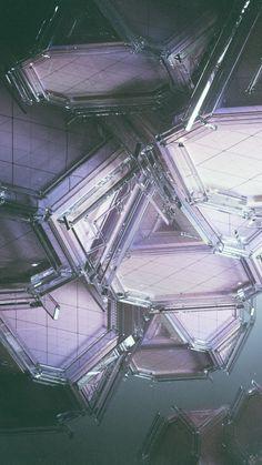 Futuristic Triangular iPhone Wallpaper