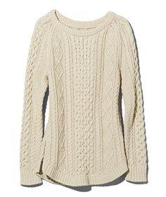 5fcff7f1163 Women s Signature Cotton Fisherman Tunic Sweater. Ll Bean ...