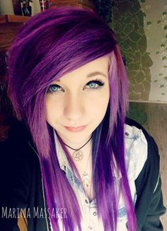 Purple hair. Oh my gosh. This color. If I did a purple this would be the color I'd choose.