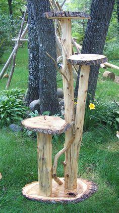 plant stand image | Cedar Log Plant Stands, Outdoor Plant Stand, Log Home Plant Stands ...